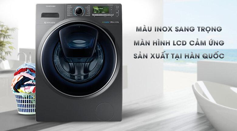 Máy giặt Samsung có kích thước đáp ứng được nhu cầu giặt của nhiều gia đình