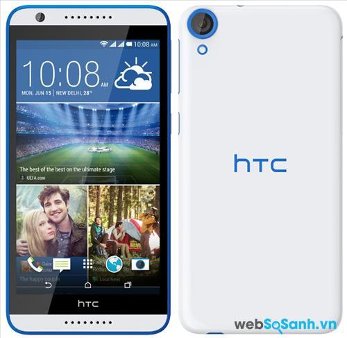 Điện thoại Desire 820G plus được HTC trang bị màn hình IPS LCD 16 triệu màu, kích thước lớn 5,5 inch độ phân giải chuẩn HD 720p