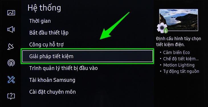 Giải pháp tiết kiệm điện cho Smart tivi Samsung