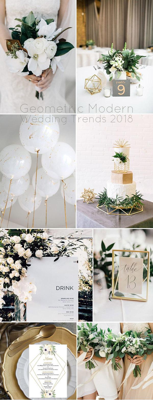 Xu hướng trang trí tiệc cưới với những đồ vật hình học