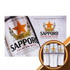 Bia Sapporo thùng 12 lon x 650ml