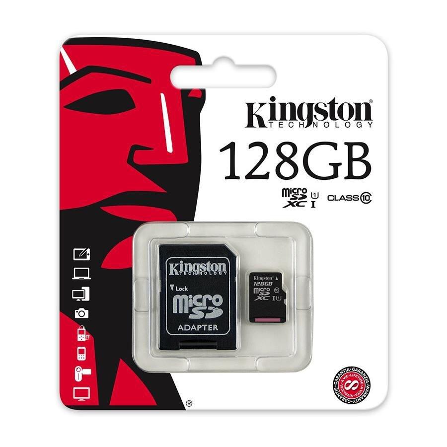 Thẻ nhớ 128Gb Kingston micro SDHC Class 10 UHS-I