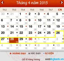Thông báo chính thức: Lịch nghỉ lễ Giỗ tổ Hùng Vương, 30-4 và 1-5