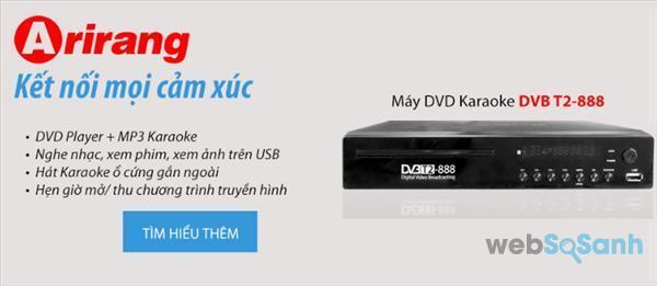 Đầu karaoke Arirang DVB T2-888 - Giá tham khảo: 792k