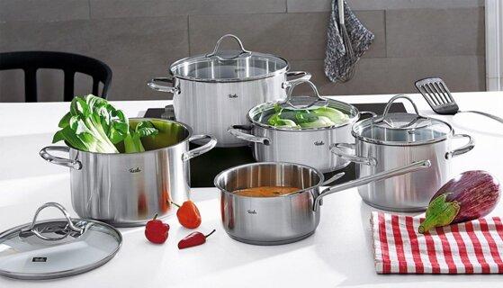 7 bộ nồi bếp từ Đức cao cấp nhập khẩu chất liệu inox 3 lớp đáy giá tốt