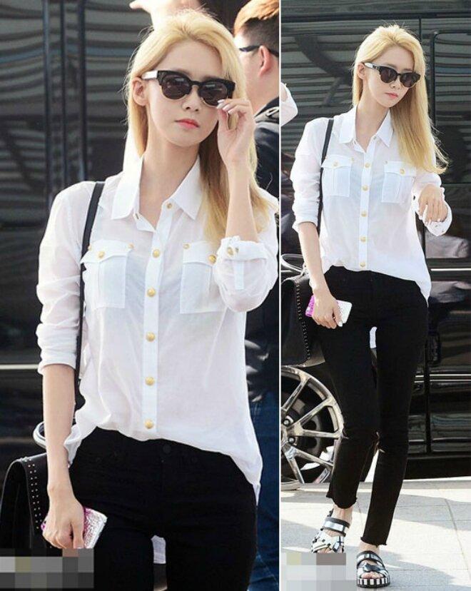 7 công thức mix sơ mi trắng với quần jeans năng động cho bạn gái mùa hè này