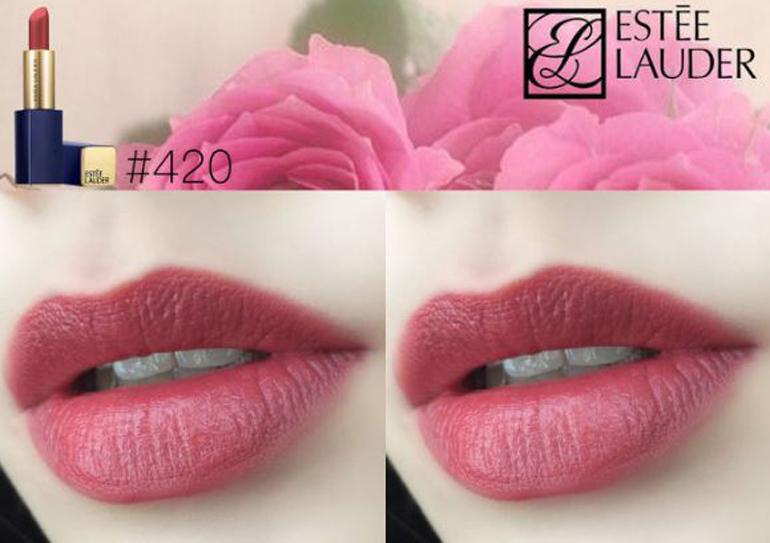 Estee Lauder Pure Color Envy màu 420 Rebellious Rose