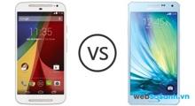 So sánh hai mẫu smartphone tầm trung Samsung Galaxy A5 và Motorola Moto G 2014