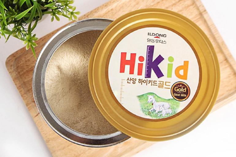 Sữa Hikid dê của Hàn có màu gì ?