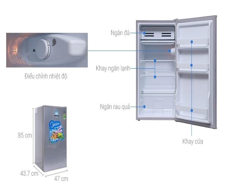 Tủ lạnh Midea HS-122SN 98L