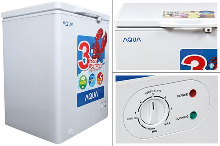 tủ đông trữ sữa aqua