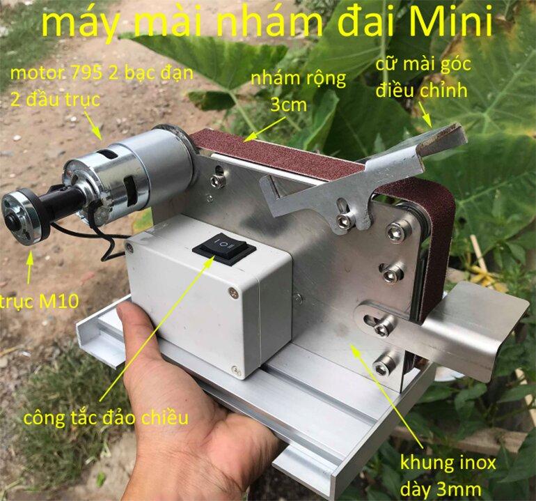 máy chà nhám mini