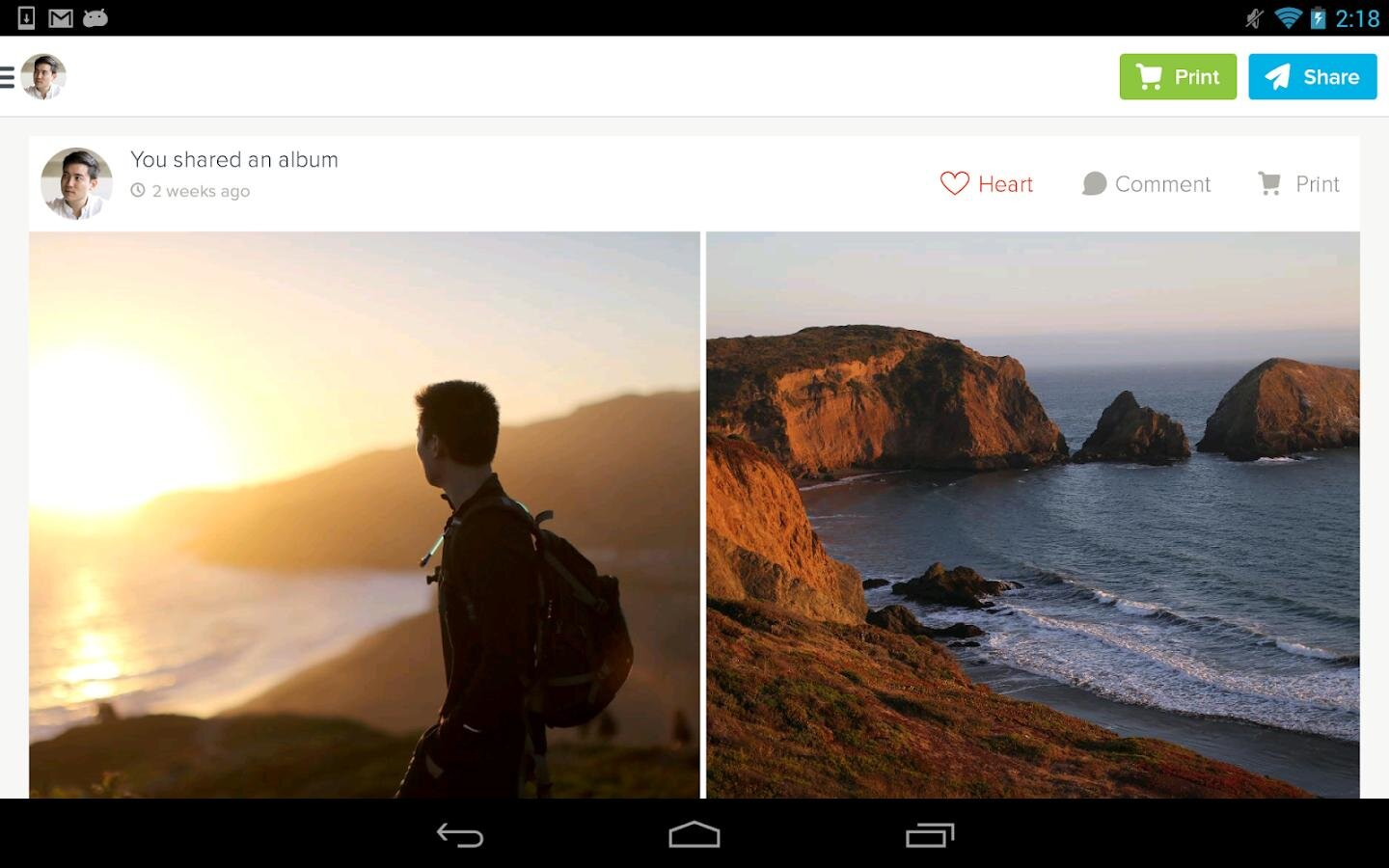 Kicksend: Share & Print Photos - screenshot
