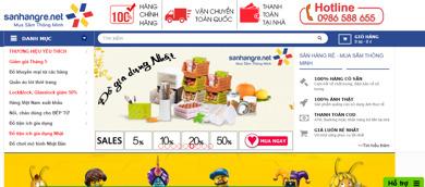 SanHangRe.net - website mua hàng hiệu trực tuyến giá rẻ nhất thị trường