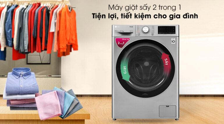 Máy giặt LG AI DD 9kg FV1409G4V màu xám - Giá tham khảo khoảng 13 - 17 triệu vnđ/ chiếc