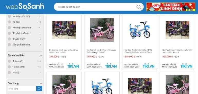 Giá xe đạp trẻ em 12 inch bao nhiêu tiền?