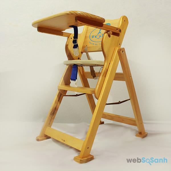 Ghế ăn dặm bằng gỗ có độ bền cao