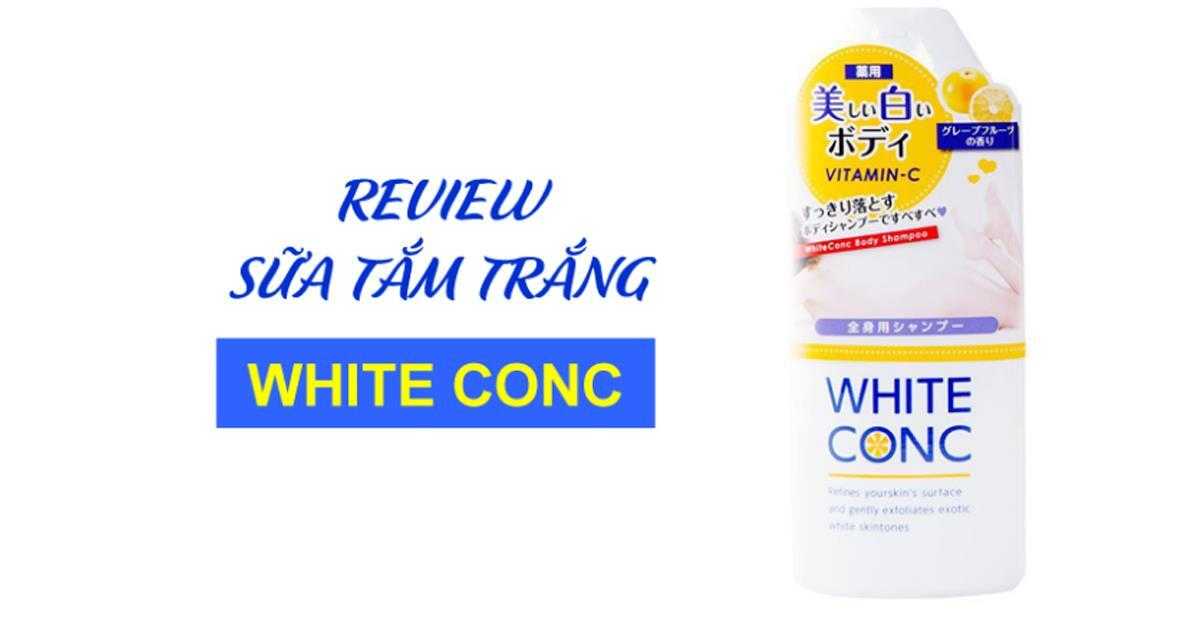 Review sữa tắm trắng White Conc
