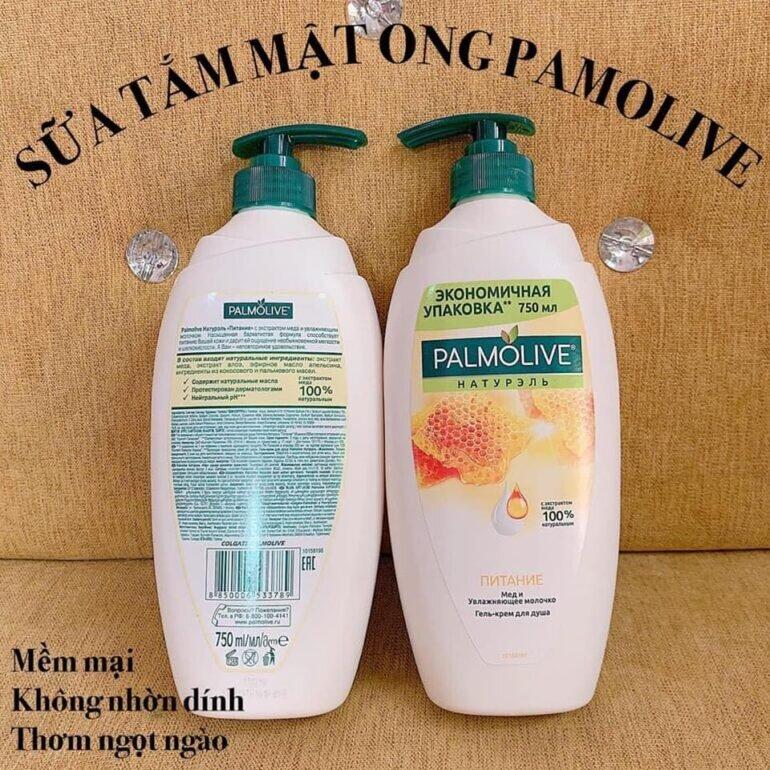 Sữa tắm Palmolive Nga - Giá tham khảo khoảng 280.000 vnđ/ chai 750ml