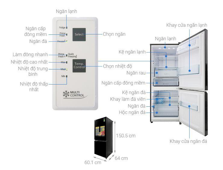 Tủ lạnh Panasonic Inverter 255 lít NR-BV289QKV2 - Giá rẻ nhất: 7.500.000 vnđ