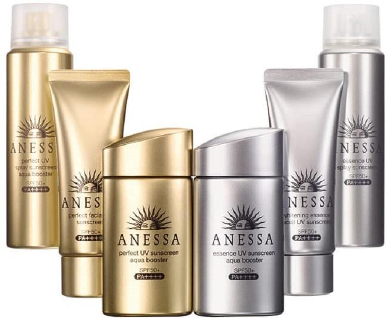 Các dạng sản phẩm kem chống nắng Anessa