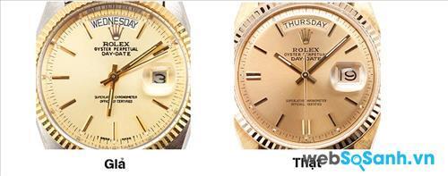 """Mặt đồng hồ Rolex chính hãng trông """"khôn"""" hơn rất nhiều"""