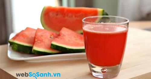 8 loại nước mát, ngon và bổ cho mùa hè nóng nực