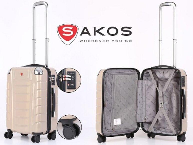 Thiết kế vali sakos luôn làm hài lòng khách hàng.