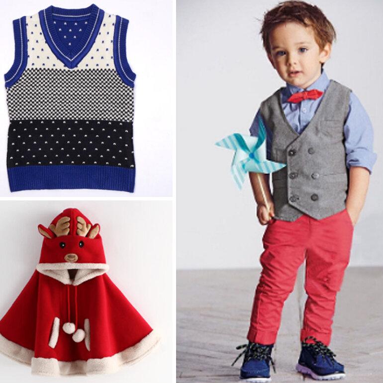 mẹ nên lựa chọn thêm cho bé một chiếc áo gile hay một chiếc áo khoác ngoài đơn giản cho bé
