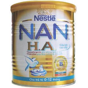 Sữa bột Nan HA - hộp 400g (dành cho trẻ từ 0 - 12 tháng)