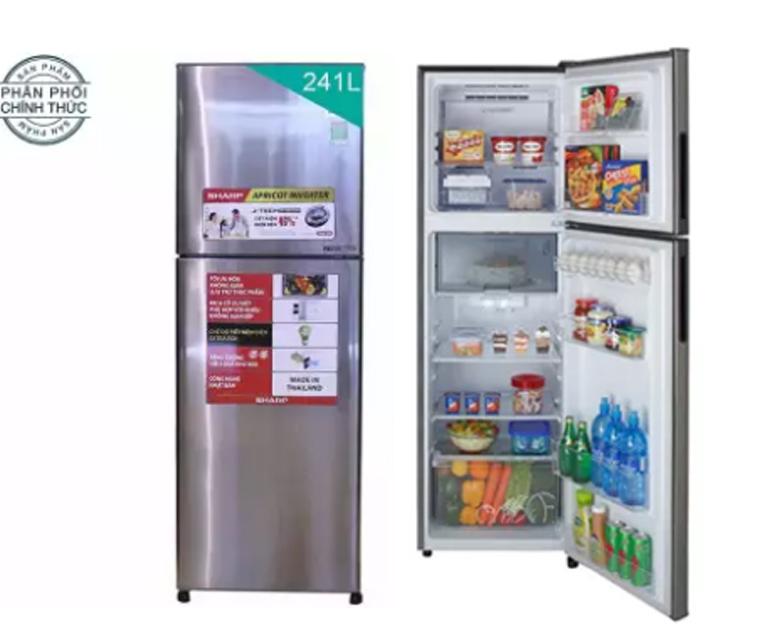 Tủ lạnh Sharp Apricot SJ-X251E-SL 241L