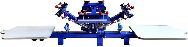 Máy in lụa màn hình 4 -2 với Bộ công cụ khởi động vật liệu