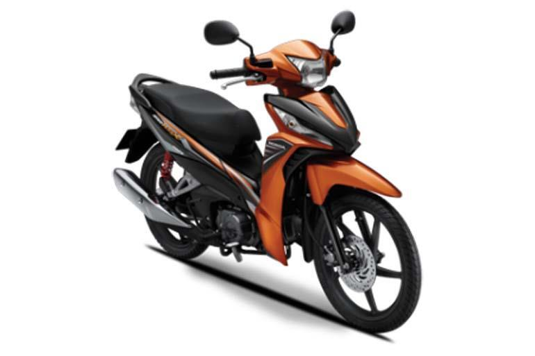 Honda Wave RSX màu cam đen