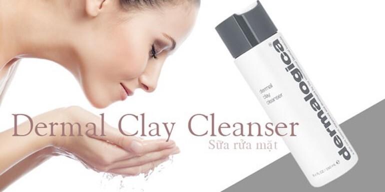 Sữa rửa mặt cho bà bầu Dermal Clay Cleanser