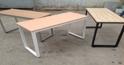 Những mẫu bàn làm việc văn phòng khung sắt mặt gỗ kiểu chữ nhật đơn giản đẹp và giá rẻ