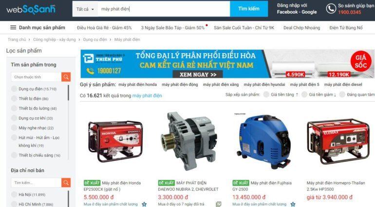Giá máy phát điện các loại bao nhiêu tiền ?