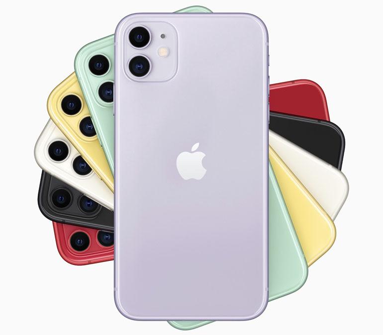 các màu sắc trên iphone 11