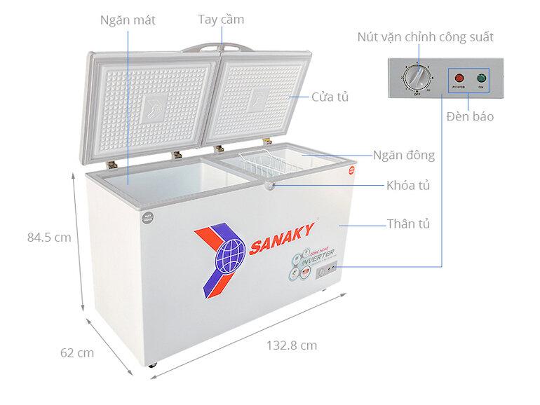 Tủ đông 400 lít Sanaky VH-4099W3