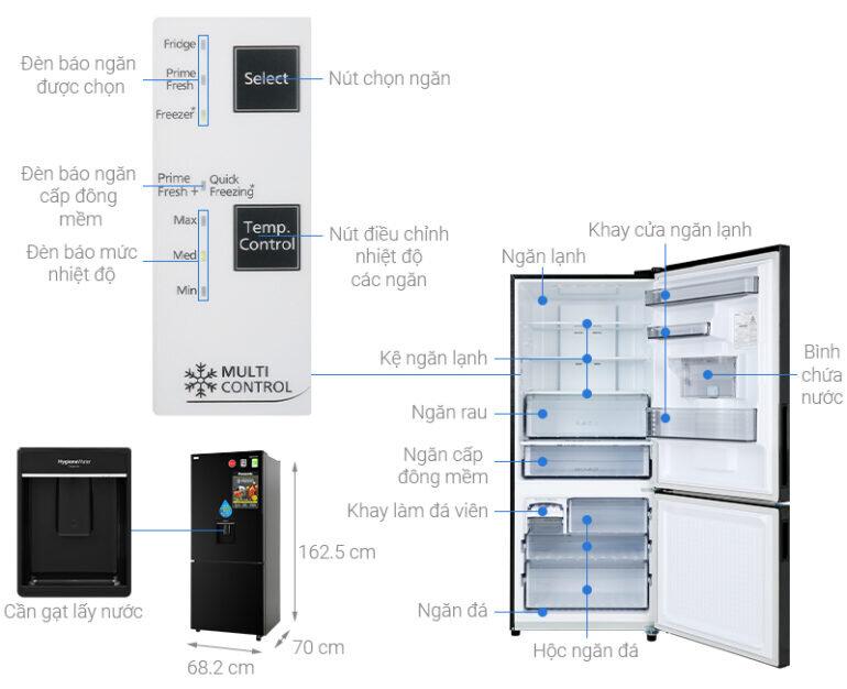 Tủ lạnh Panasonic inverter 368 lít NR-BX410WKVN - Giá tham khảo khoảng: 15.000.000 vnđ