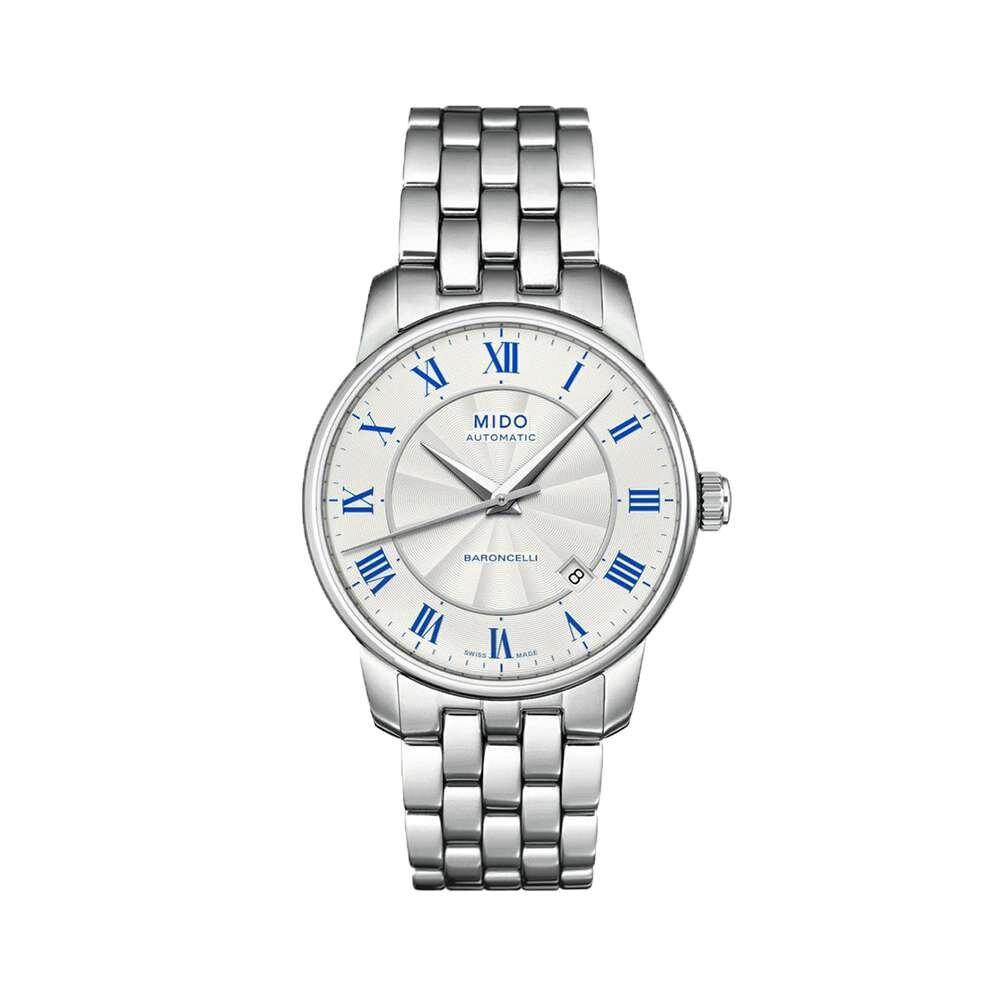 Mẫu đồng hồ Mido M8600.4.21.1 tông màu bạc sang trọng và chất liệu thép không gỉ cực kỳ đẳng cấp