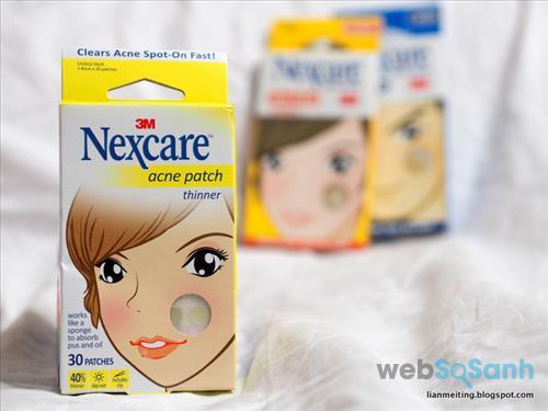 Miếng dán mụn trong suốt Nexcare Acne Patch Thinner