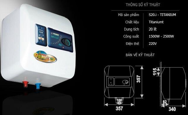 Chất liệu Titanium siêu bền chống thấm dùng cho các loại máy nước nóng