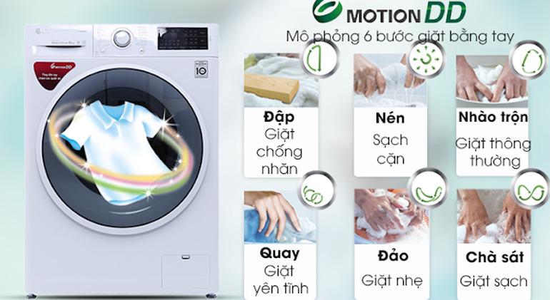Máy giặt LG FC1408s4W2 giặt khá sạch