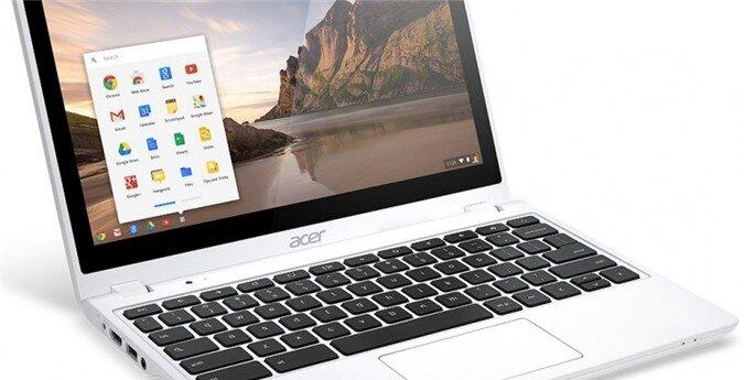 Acer nâng cấp laptop giá rẻ Chromebook C720P lên 2 GB RAM