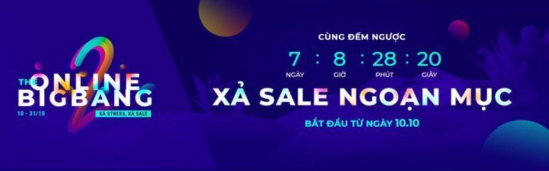 Xả sale ngoạn mục The Online Bigbang 2018 từ 10/10 kết thúc vào 31/10/2018