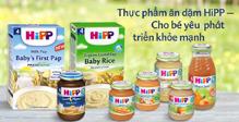 Bảng giá thực phẩm ăn dặm cho bé Hipp cập nhật tháng 1/2018