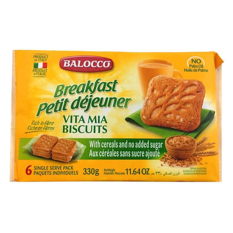 Bánh quy không đường Balocco Vitamia - Giá tham khảo: 114.000 vnđ - 119.000 vnđ/ gói 330g