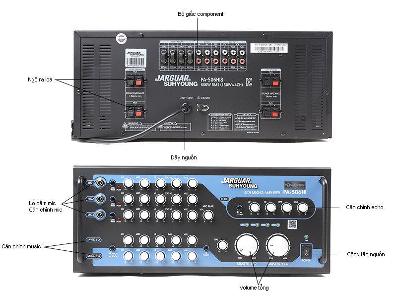 Amply Jarguar Suhyoung PA-506HI – Giá cả phải chăng, âm thanh chuyên nghiệp