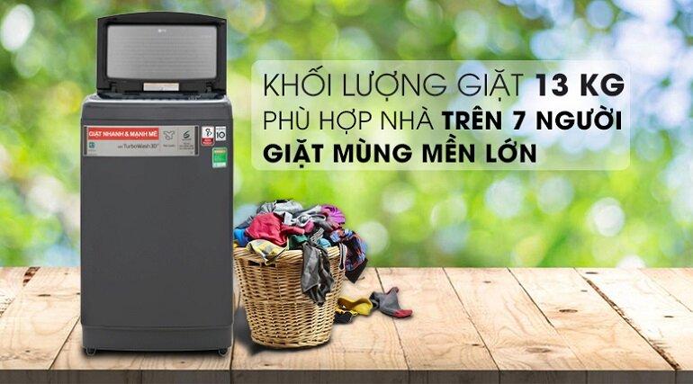 So sánh máy giặt LG Inverter lồng đứng 13kg Th2113ssak và máy giặt Panasonic Inverter 13.5 kg Na-fs13v7srv, loại nào tốt hơn?