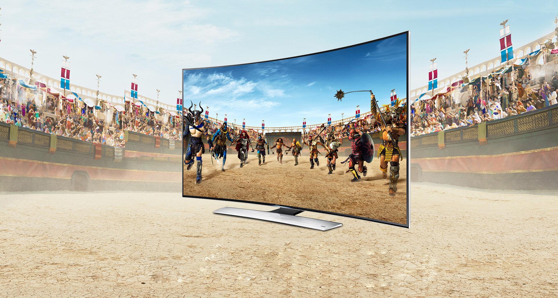 Ấn tượng với thiết kế màn hình cong hoàn mỹ trên tivi